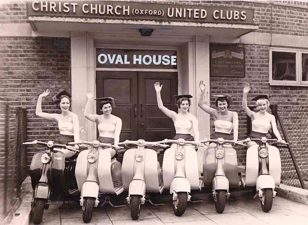 Scooters at the Ovalhouse in the 1960s