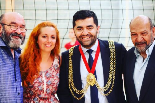 Cisel Oranci with Ibrahim Dogus mayor of Lambeth