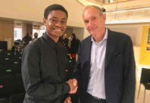 Charles Claton and Sir Tim Berners-Lee