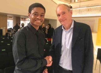 Charles Claton and Sir Tim Berners-Lee
