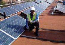 Installation of solar panels on Elmore Estate
