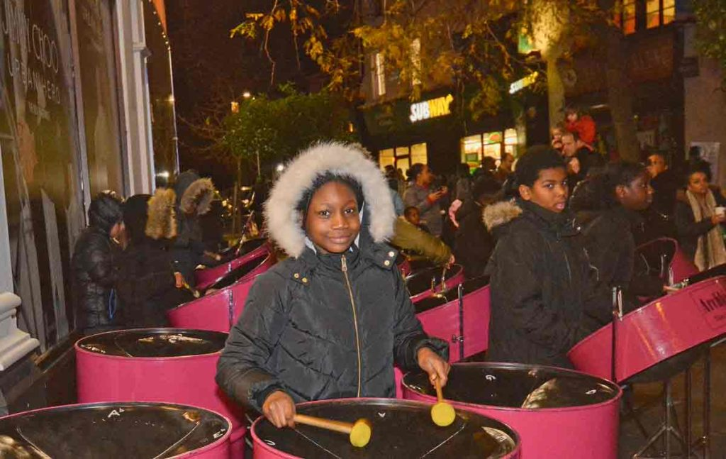 Archbishop Sumner school's steel band