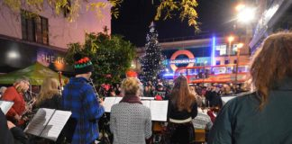 Brixton Chamber Orchestra, Tube station in background