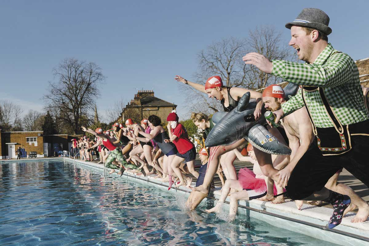 swimmers take an icy dip for homelessness charity Crisis