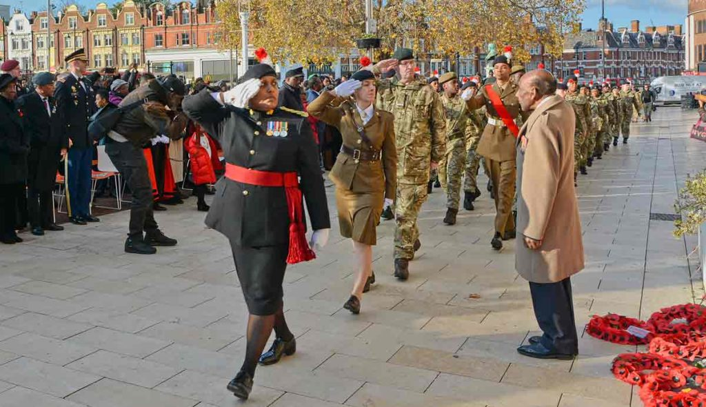 Windrush Square Remembrance Day parade