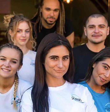Carina Lepore with Dough House staff
