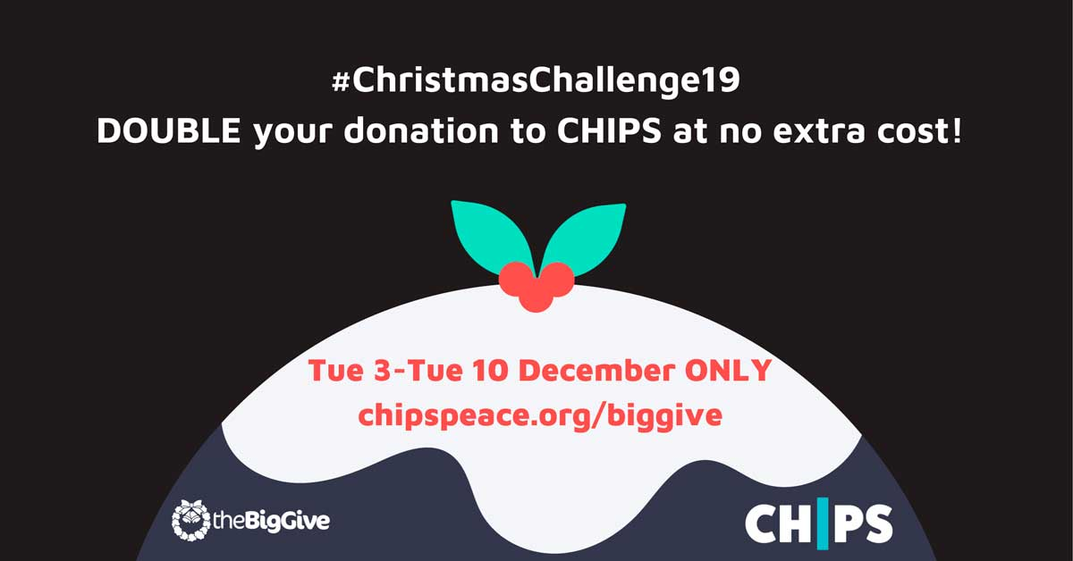 Promo for CHIPS charity xmas challenge fundraiser