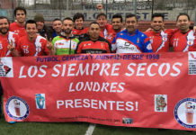 Los Siempre Secos refugee football team