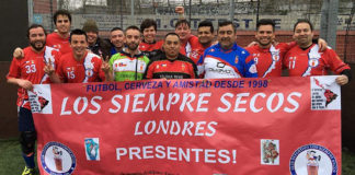 Los Siempre Secos refugee football team