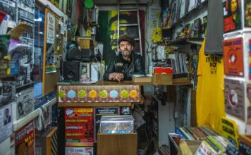 Markie at Universal Roots Records who runs the Reliance Arcade shop and a record label