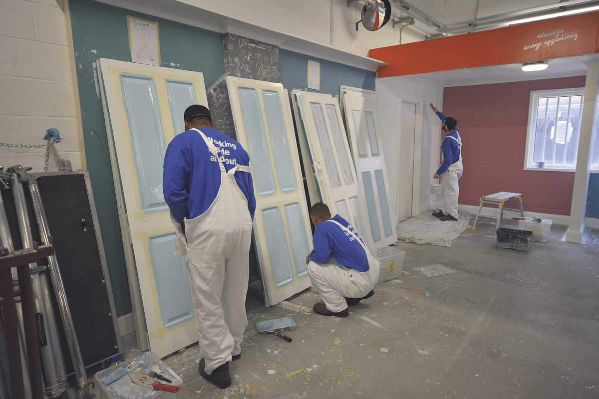 Prisoners learning painting and decorating
