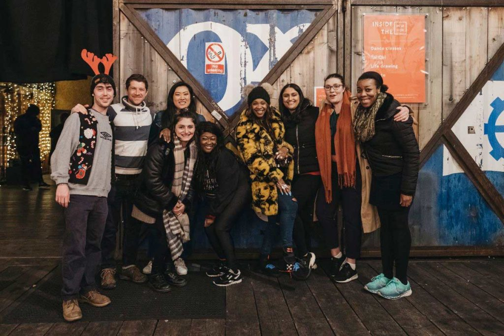 Sinead Browne [Center] at the recent Compliments of the House Fundraiser held at Pop Brixton.
