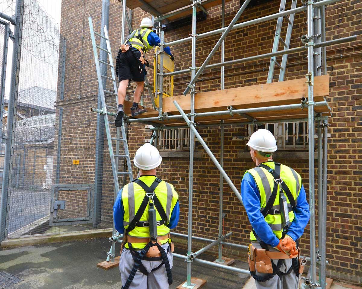 scaffolding course at Brixton Prison