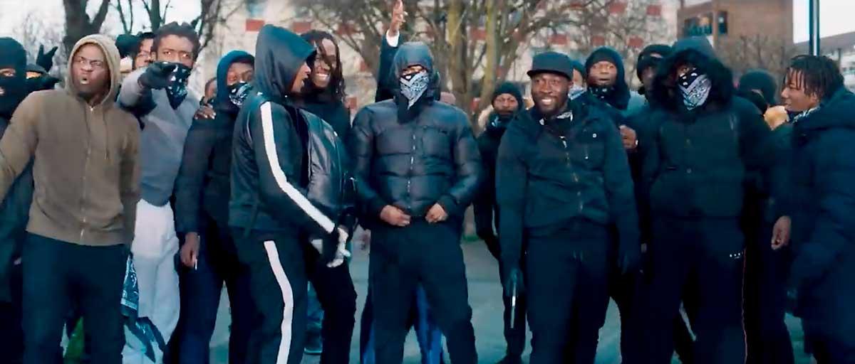 screenshot from film Blue