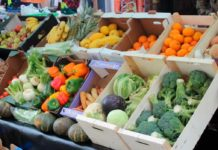 Fruit and veg stall in the market