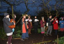 Wassailing at Brockwell Park