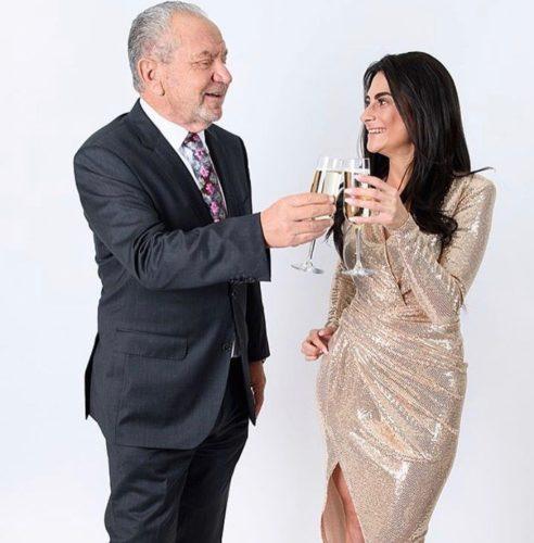 Carina Lepore with Sir Alan Sugar