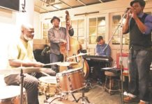 Errol Linton and his band playing at the Effra Hall Tavern