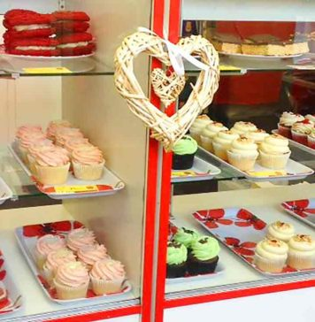 Window of Ms Cupcake shop on Coldharbour Lane