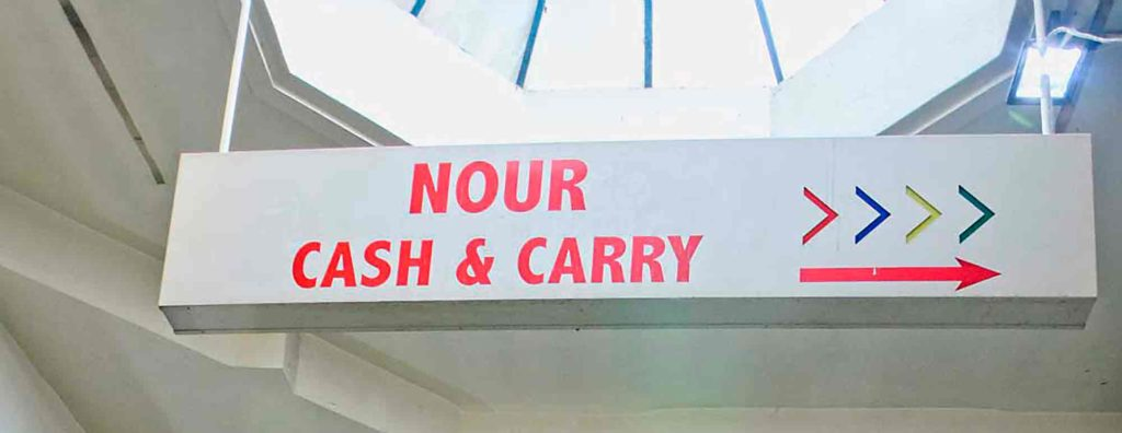 Nour Cash & Carry sign
