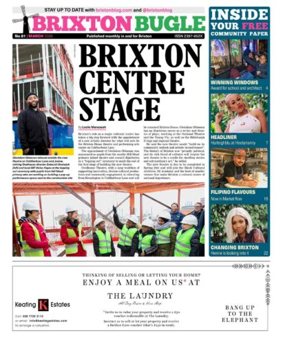 Brixton Bugle March 2020 front page