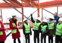 Topping Out Ceremony at site of new theatre on Coldharbour Lane