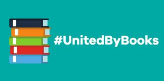 logo for #UnitedByBooks