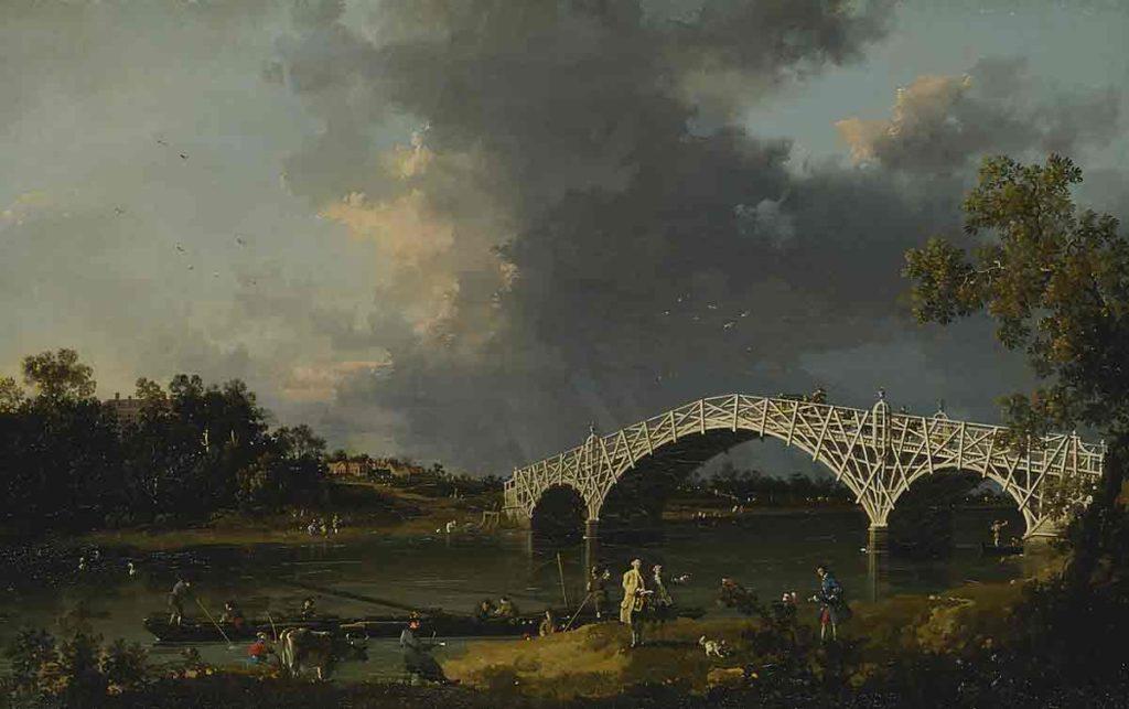 A View of Walton Bridge, Canaletto
