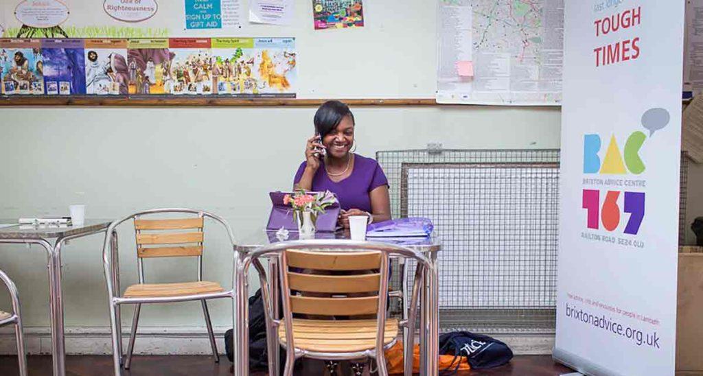 Brixton Advice Centre volunteer