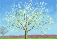 Hockney tree painting
