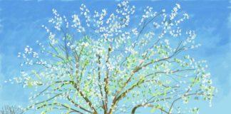 Hockney tree painting