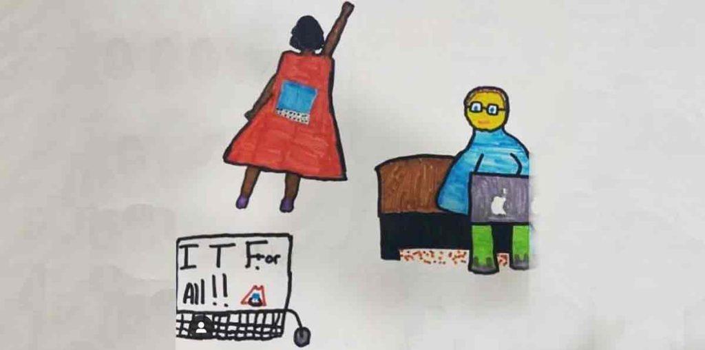 graphic by children