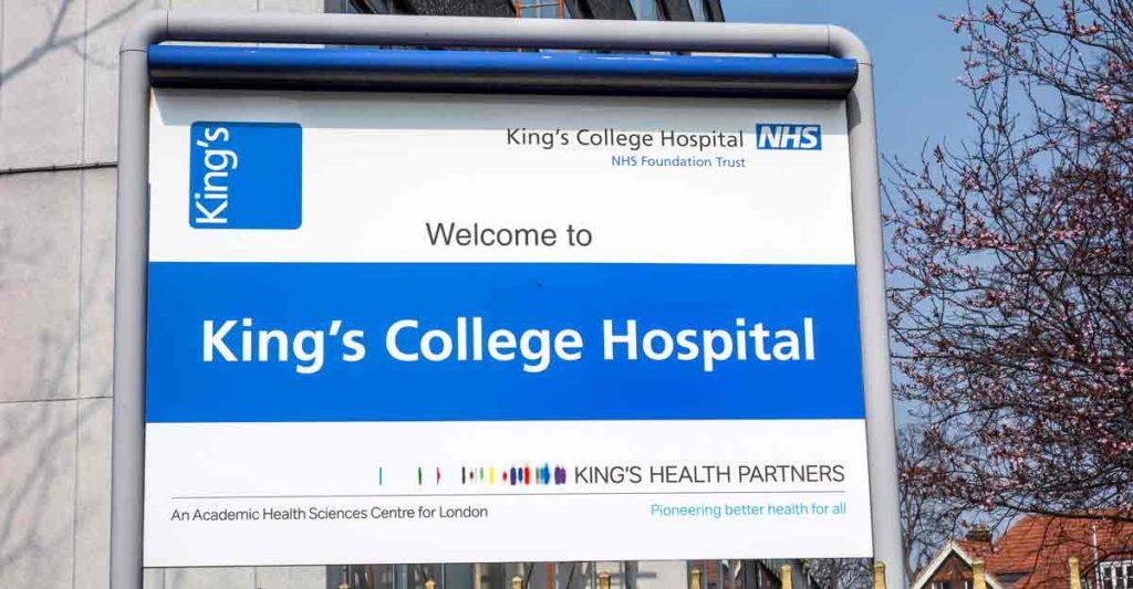Kin g's College Hospital sign