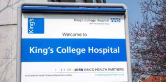 King's College Hospital sign