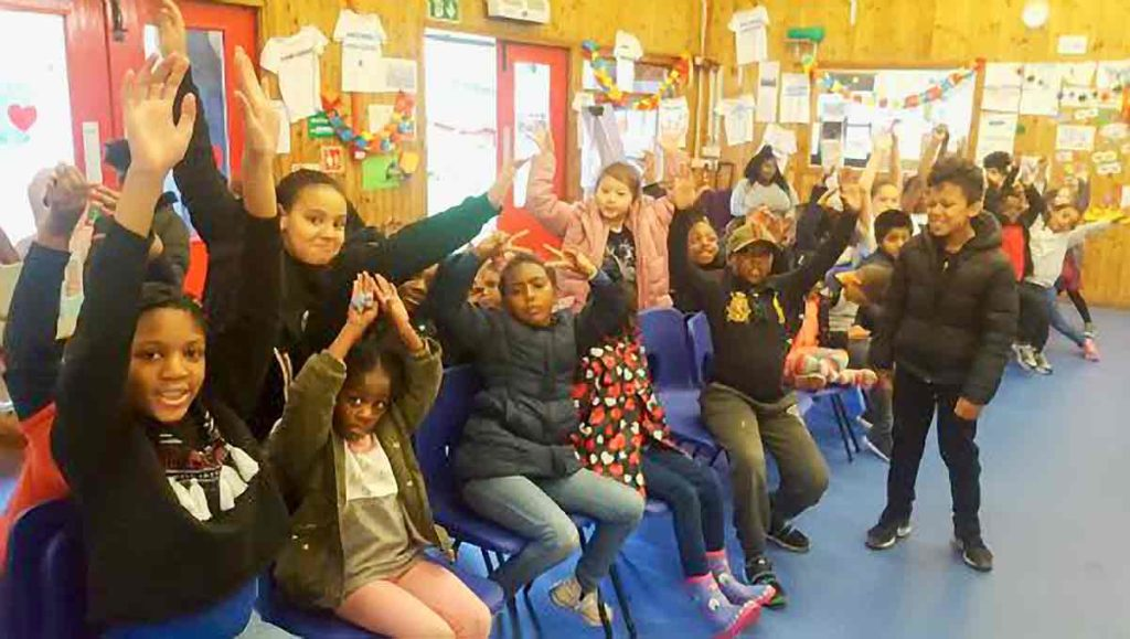 children in centre