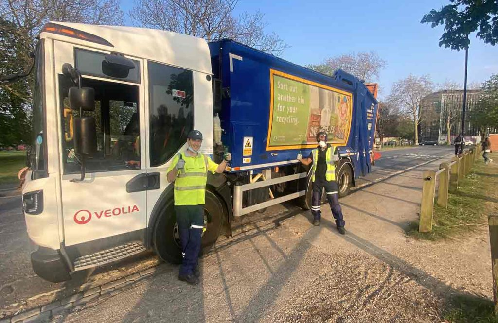 waste collectors and vehicle