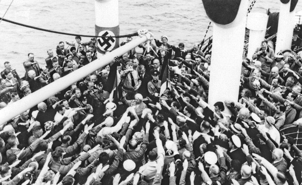 nazi salutes on ship