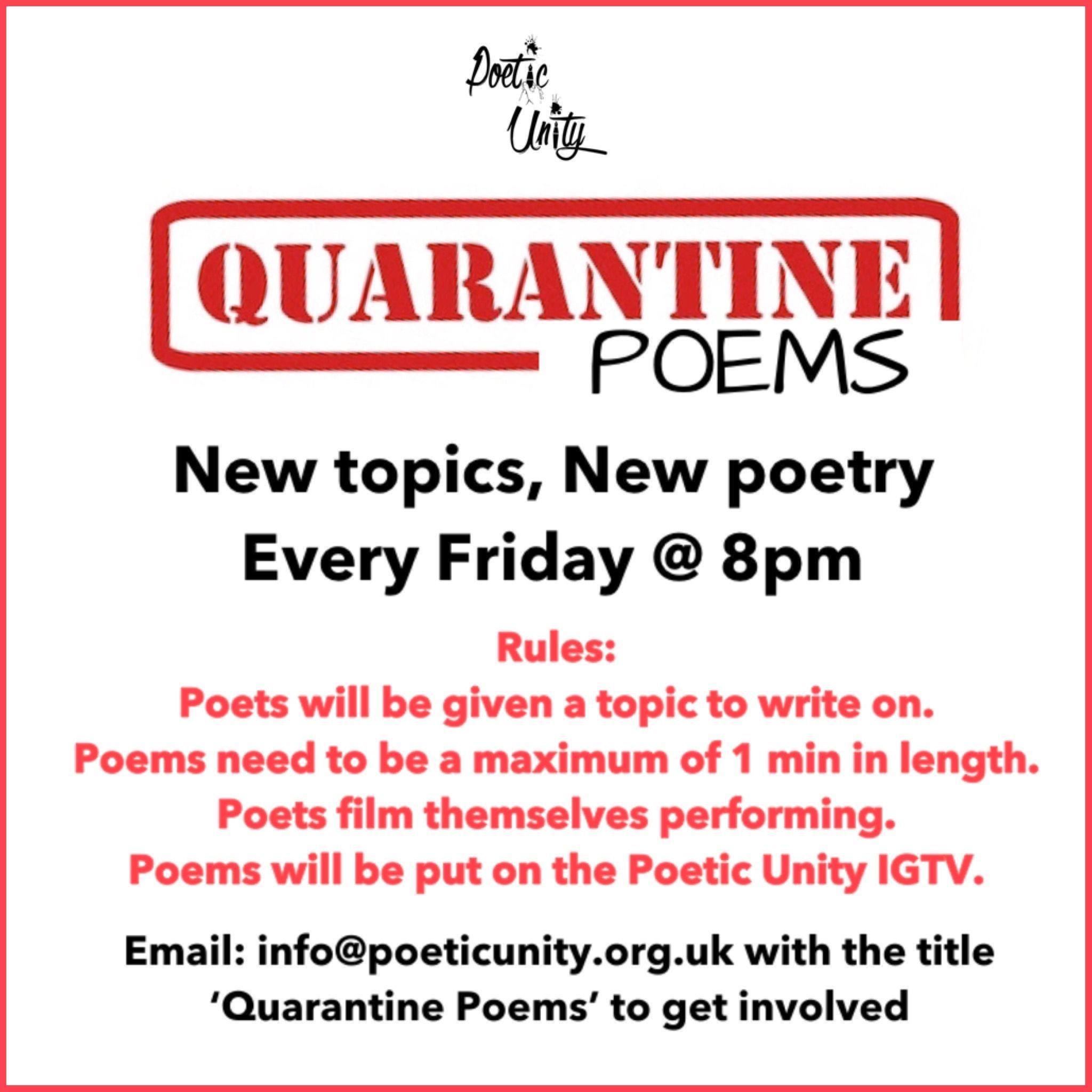 Charity Launches Quarantine Poems Brixton Blog Go ahead and give one a try! charity launches quarantine poems