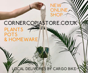 Plants delivered by cycle - Cornercopia Shop now online!