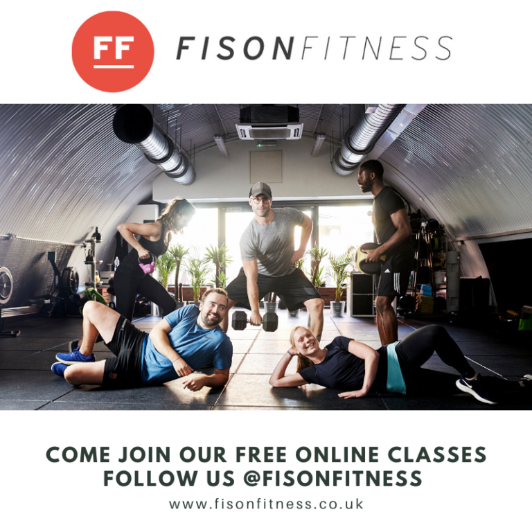 Fison Fitness LIVE STREAMING all classes totally FREE!