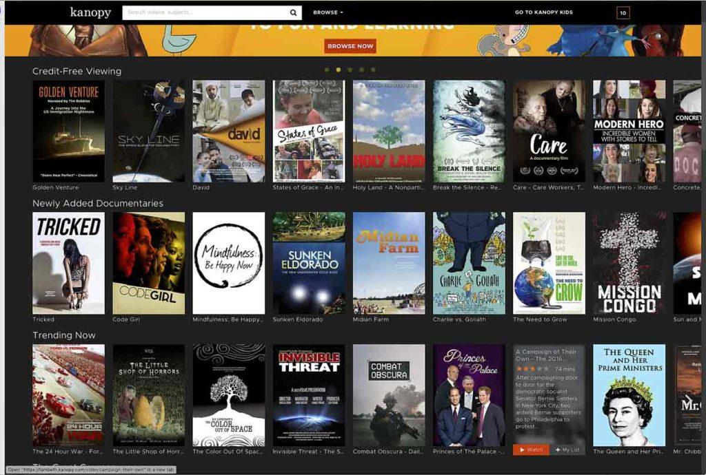 Kanopy Films screen grab