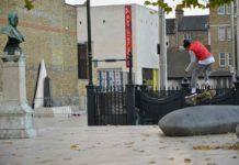 Skateboarder Windrush Square Brixton