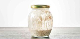 sourdough starter in jar