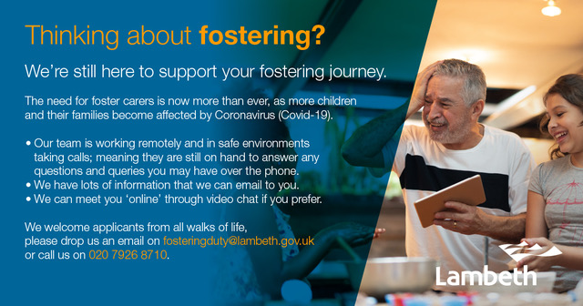 Flyer appealing for foster carers