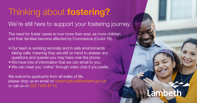 Flyer for fostering ad