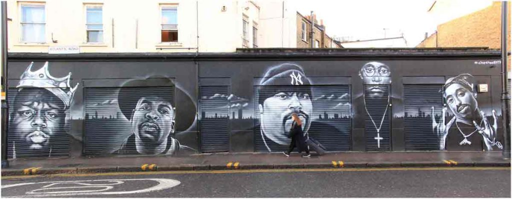 Mural of rappers
