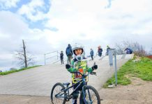 small boy with BMX bike