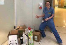 Food drop-off at hospital