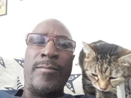 Musaman with his cat