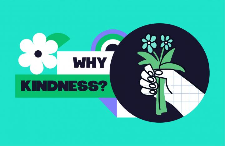 Mental Health Week theme Kindness flyer